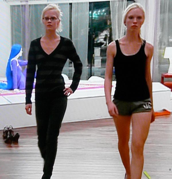 ANTM Rae and Erin practice their model walks