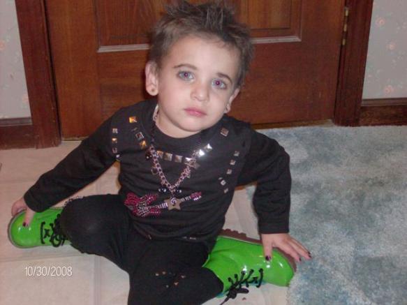 Adam Lambert toddler
