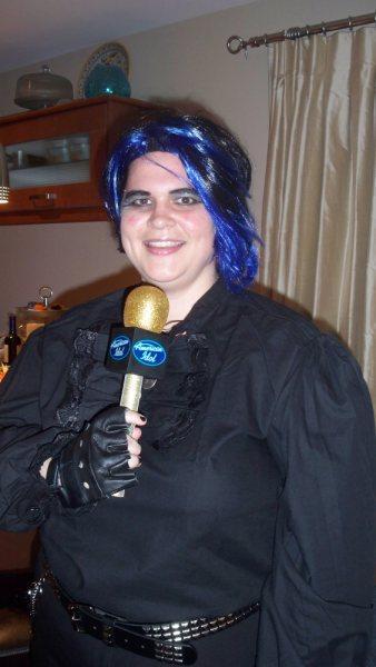 Scary Adam Lambert costume