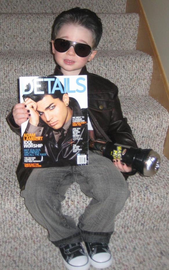Adam Lambert as a Kid Kid Dressed as Adam Lambert
