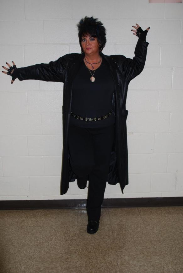 Woman dressed as an Adam Lambert-esque witch?